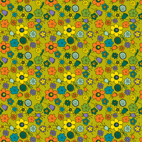 Ditsy Doodle fabric by woodledoo on Spoonflower - custom fabric