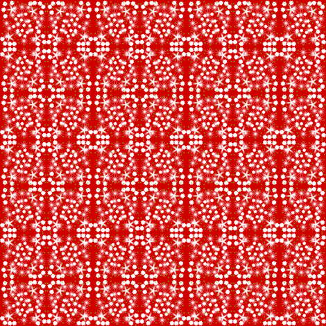 Red Christmas Flowers fabric by angelsgreen on Spoonflower - custom fabric