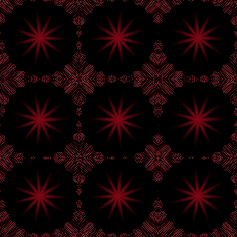 Christmas Star Red fabric by angelsgreen on Spoonflower - custom fabric