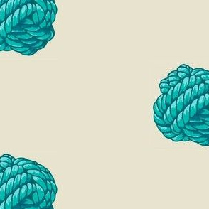 Monkey Knot Polka Dot - Blue and Aqua