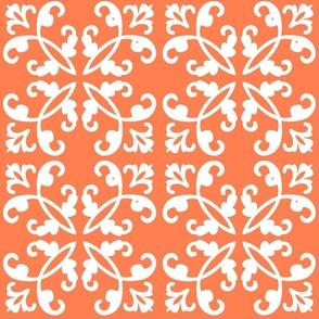 Coral & White Weave