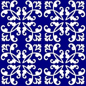 Navy & White Weave