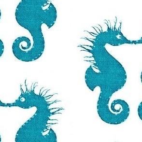 Seahorse Kisses Aqua 2
