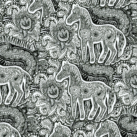 Paisley Pony fabric by eclectic_house on Spoonflower - custom fabric