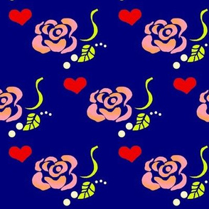 Lazy Rose Love  (Navy)
