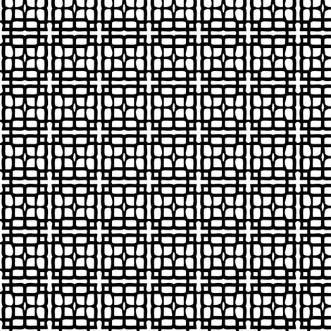 Chinese Screen -- in black and white fabric by bargello_stripes on Spoonflower - custom fabric