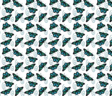 Butterfly Blues fabric by bargello_stripes on Spoonflower - custom fabric
