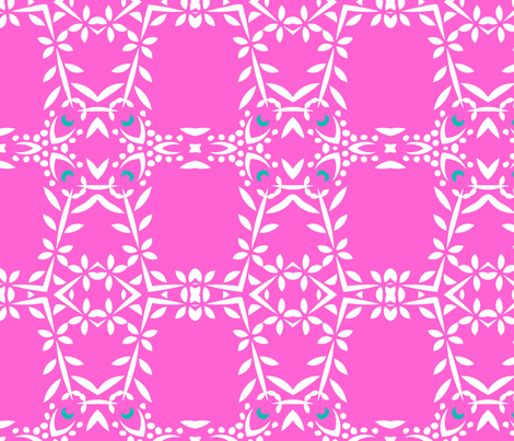 Phula Check (Pink) fabric by nekineko on Spoonflower - custom fabric