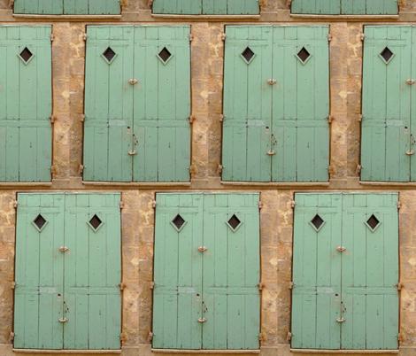 Behind the Green Door fabric by susaninparis on Spoonflower - custom fabric