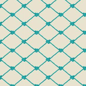 Small Crab Netting - Blue and Aqua