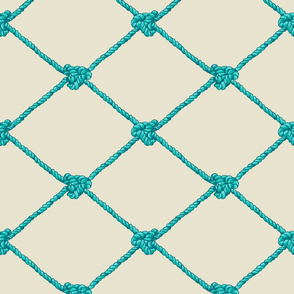 Large Crab Netting - Blue and Aqua