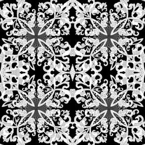 B&W Gray Linen Cross Weave