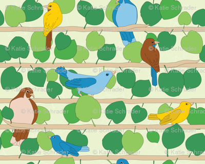 Birds and Vines | Full Color
