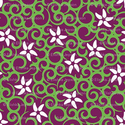 Flowers & Vines (purple)
