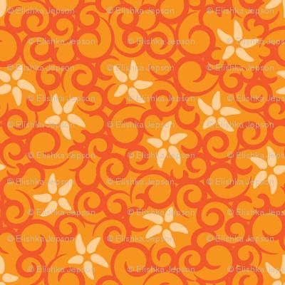 Flowers & Vines (orange)