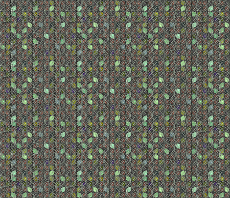 Fallen Jewels - Elfin Frost fabric by glimmericks on Spoonflower - custom fabric