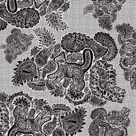 Paisley Cat fabric by eclectic_house on Spoonflower - custom fabric