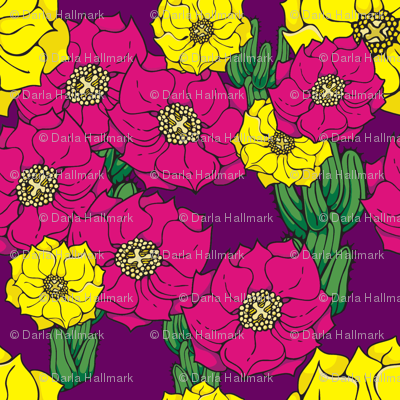 Cactus Flowers, alternate colors