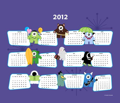 The Imps 2012 Calendar fabric by freedom_fernandez on Spoonflower - custom fabric