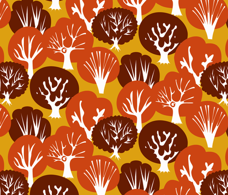 Fall Leaves subdued fabric by fussypants on Spoonflower - custom fabric