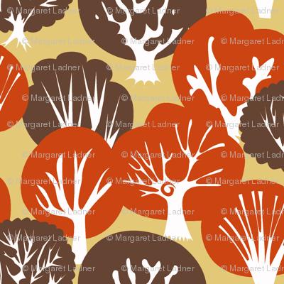 Fall Leaves dark brown