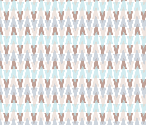 acute stripe (small scale) in frost bite fabric by burjeune on Spoonflower - custom fabric