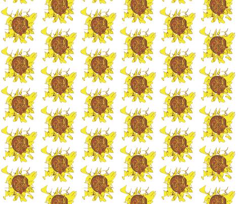 Sun Flower fabric by annalisa222 on Spoonflower - custom fabric