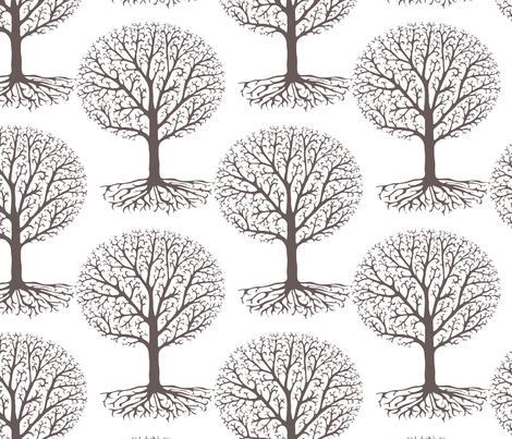 Lace Trees fabric by kezia on Spoonflower - custom fabric
