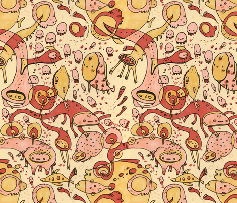 Sea Creatures fabric by philippa_rice on Spoonflower - custom fabric
