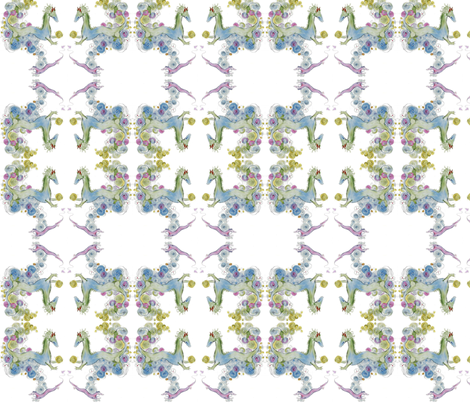 Pearls and swirls Dragon mirror repeat fabric by doc_and_veronica on Spoonflower - custom fabric