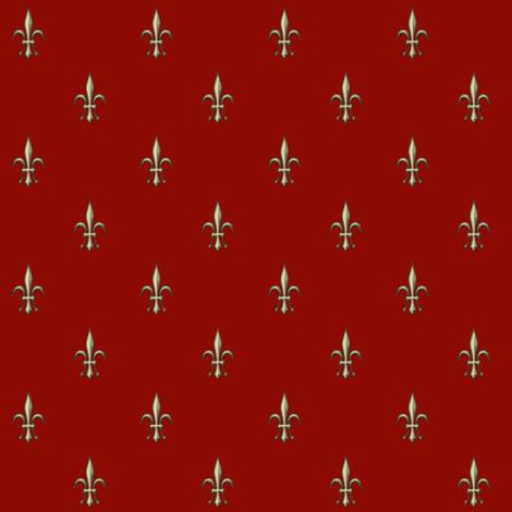 ©2011 fleur de lis 2010  red fabric by glimmericks on Spoonflower - custom fabric