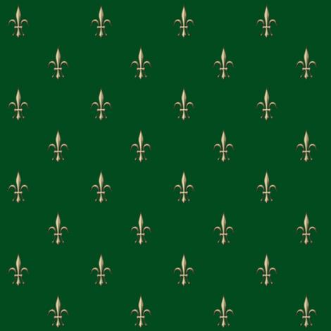 ©2011 fleurdelis2010-green fabric by glimmericks on Spoonflower - custom fabric