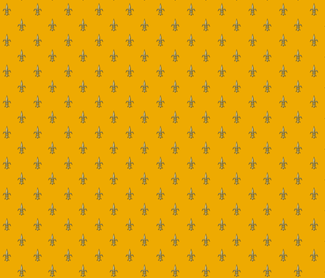 ©2011 fleur de lis 2010 - goldenrod fabric by glimmericks on Spoonflower - custom fabric