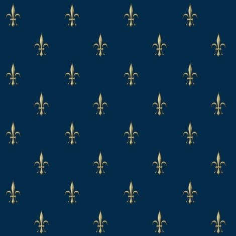 ©2011 fleurdelis2010-marine fabric by glimmericks on Spoonflower - custom fabric