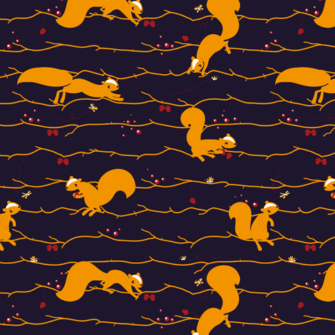 Leap to autumn fabric by verycherry on Spoonflower - custom fabric