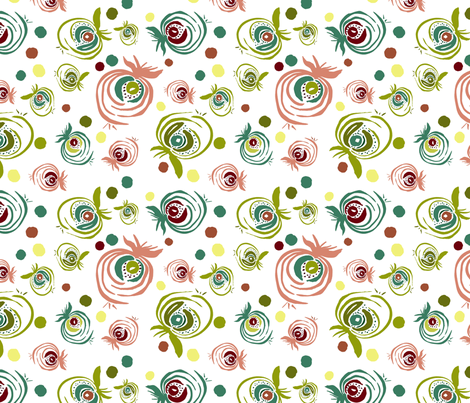 Fruity Mix fabric by susan_magdangal on Spoonflower - custom fabric
