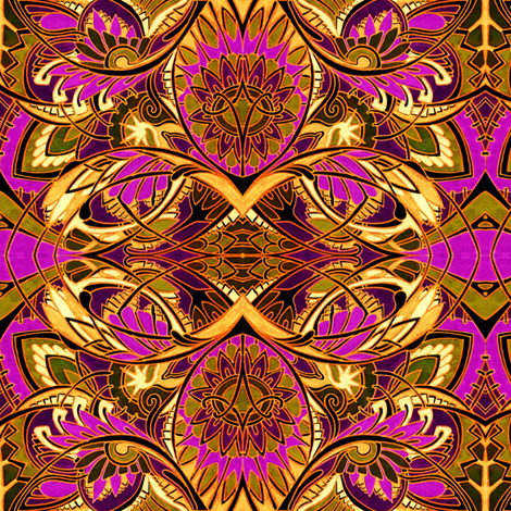 Big, Bright, and Tribal fabric by edsel2084 on Spoonflower - custom fabric