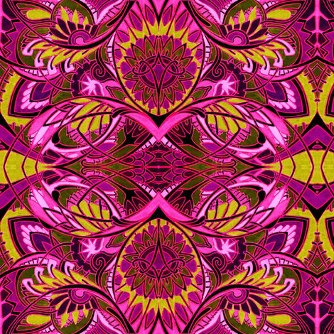 The Psychedelic Beachcomber fabric by edsel2084 on Spoonflower - custom fabric