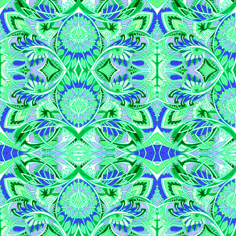 Rabbits Don't Hide Easter Eggs (green/lavender/ navy) fabric by edsel2084 on Spoonflower - custom fabric
