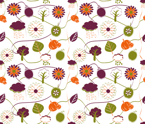 Autumn 2011 fabric by jlwillustration on Spoonflower - custom fabric