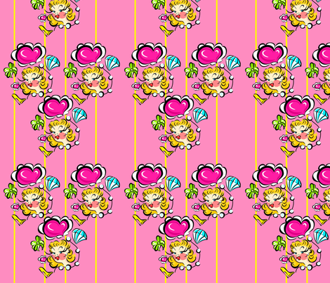 Beauty Girl Print fabric by miss_fear on Spoonflower - custom fabric
