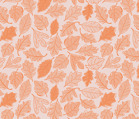 Autumn Leaves Alternate fabric by wildnotions on Spoonflower - custom fabric