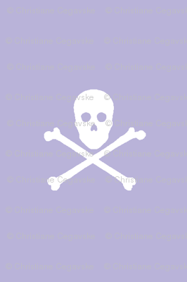 white skull and crossbones on lavender