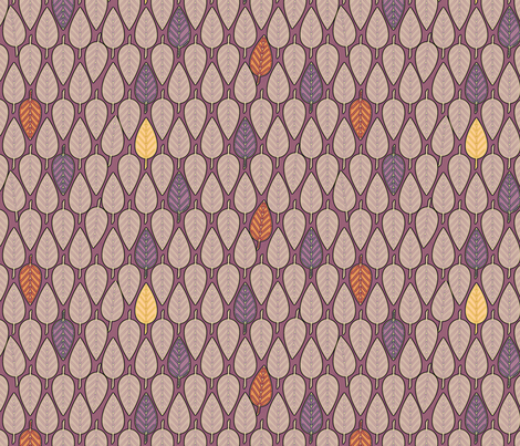 Leaves Mauves fabric by glimmericks on Spoonflower - custom fabric