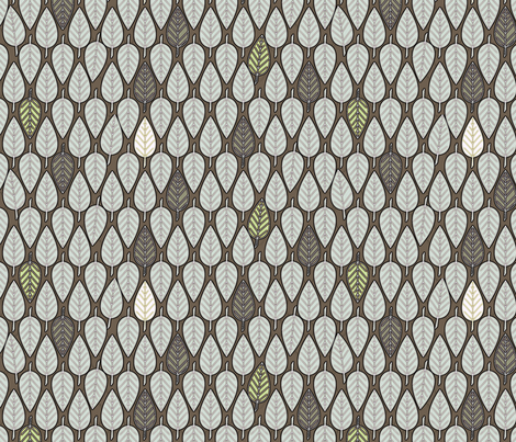 Leaves Frost fabric by glimmericks on Spoonflower - custom fabric