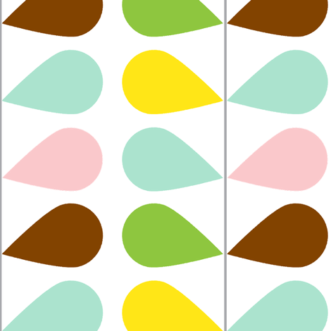 Leaf Chain fabric by honey&fitz on Spoonflower - custom fabric