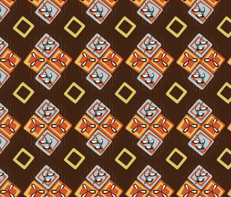 Coffee Diamonds fabric by gsonge on Spoonflower - custom fabric
