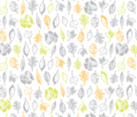 Leaf Collection fabric by jennartdesigns on Spoonflower - custom fabric