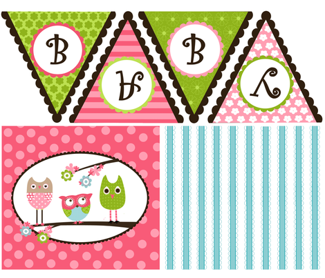 Whimsy Owls Decor fabric by natitys on Spoonflower - custom fabric