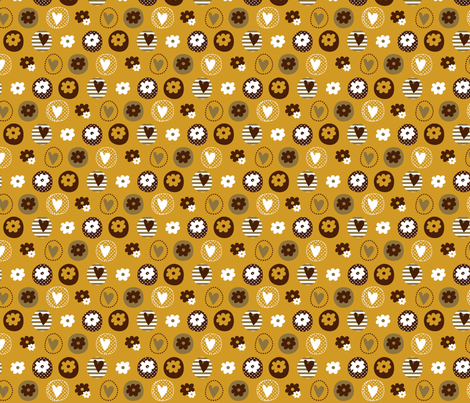 Tweety chirp chirp hoot 02 fabric by amel24 on Spoonflower - custom fabric